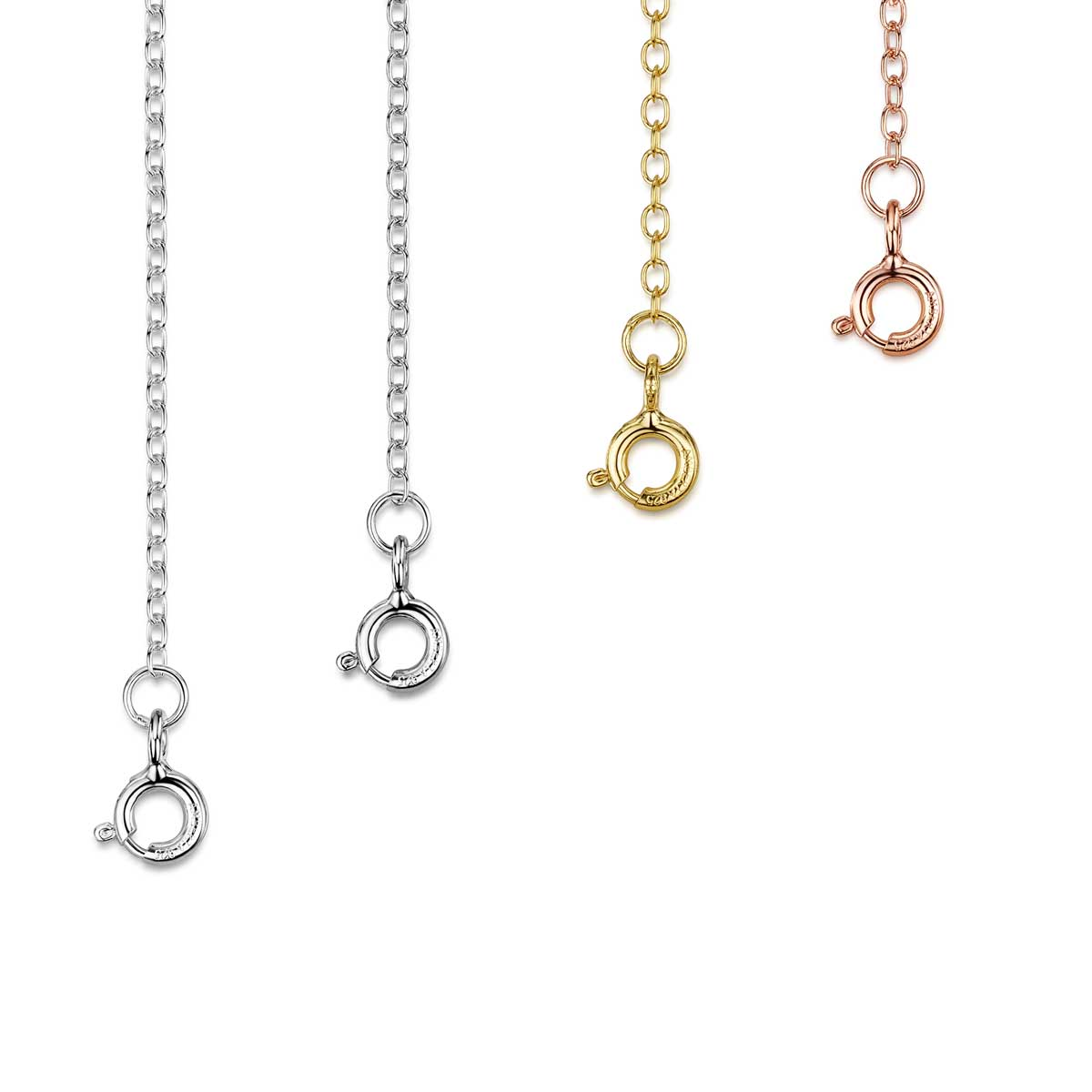Extender Chain with Jump Ring and Lobster Clasp Nickel-Free 925 Sterling Silver